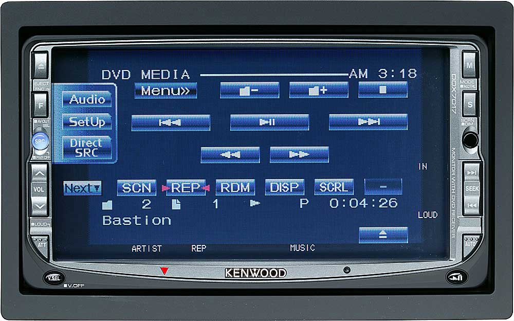 Kenwood Ddx7017 Dvd  Cd Player With 6 5 U0026quot  Video Screen At