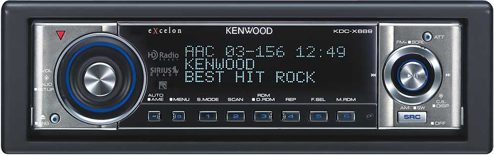 Kenwood Excelon KDCX689 CD player with MP3WMAAAC playback at – Kenwood Kdc-x790 Wiring Diagram