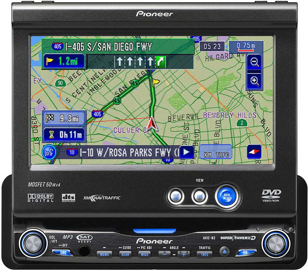 Pioneer AVIC-N3 In-dash DVD receiver with navigation and 6.5\