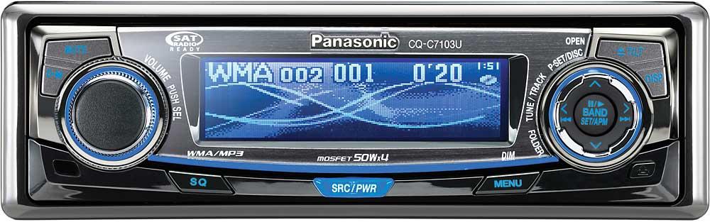 panasonic cq c7103u ipod ready cd player with mp3 wma playback at rh crutchfield com Panasonic CQ C7103u Manual Panasonic Car Wiring Diagram