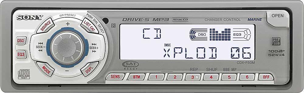 sony cdx f50m marine cd receiver with mp3 playback at crutchfield com rh crutchfield com