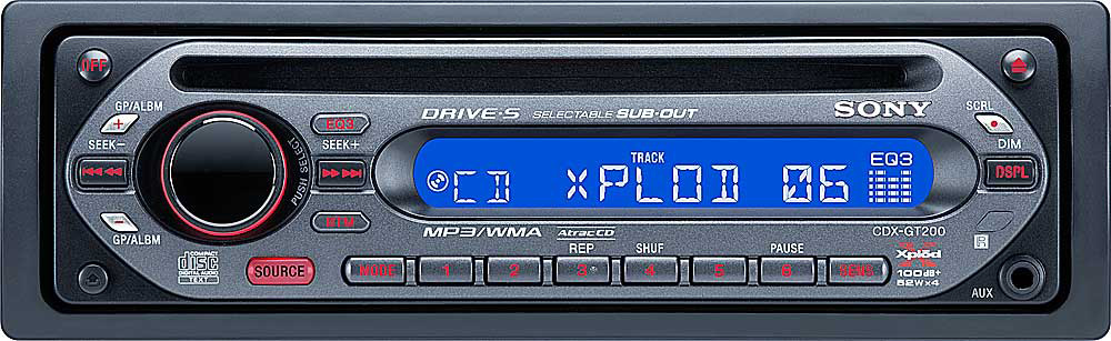 x158GT200 f_mt sony cdx gt200 cd player with mp3 playback at crutchfield com  at mifinder.co