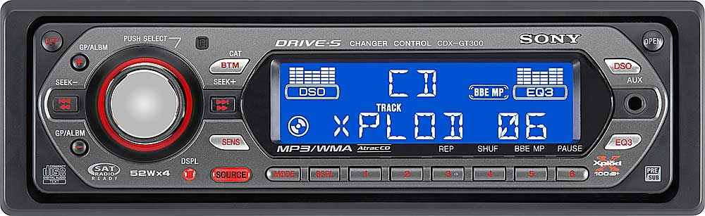 sony cdx gt300 cd player with mp3 wma playback reviews