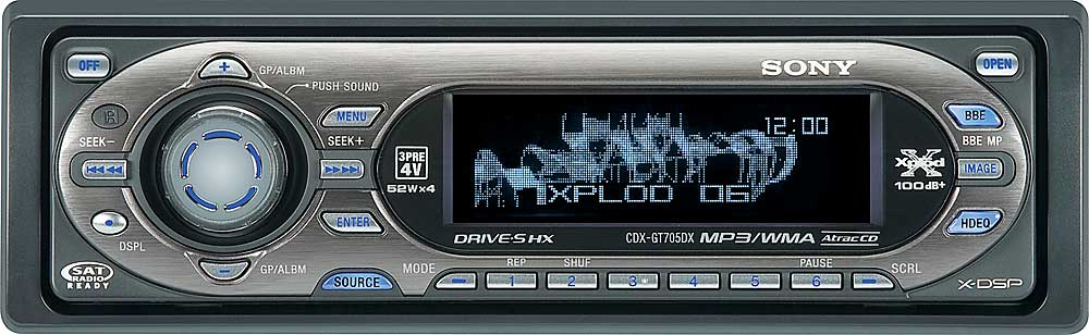 Sony cdx gt705dx cd player with mp3wma playback at crutchfield publicscrutiny Images