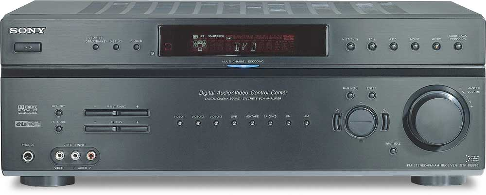 How To Track A Vehicle With Gps For Free >> Sony STR-DE598 6-channel home theater receiver at Crutchfield