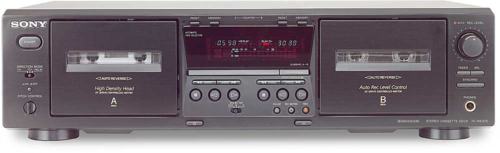 sony tc we475 dubbing cassette deck at. Black Bedroom Furniture Sets. Home Design Ideas