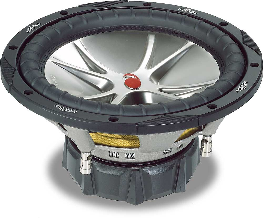 Kicker Compvr 05cvr124 12 Subwoofer With Dual 4 Ohm Voice Coils At Speaker Wiring Diagram On Parallel Coil Sub