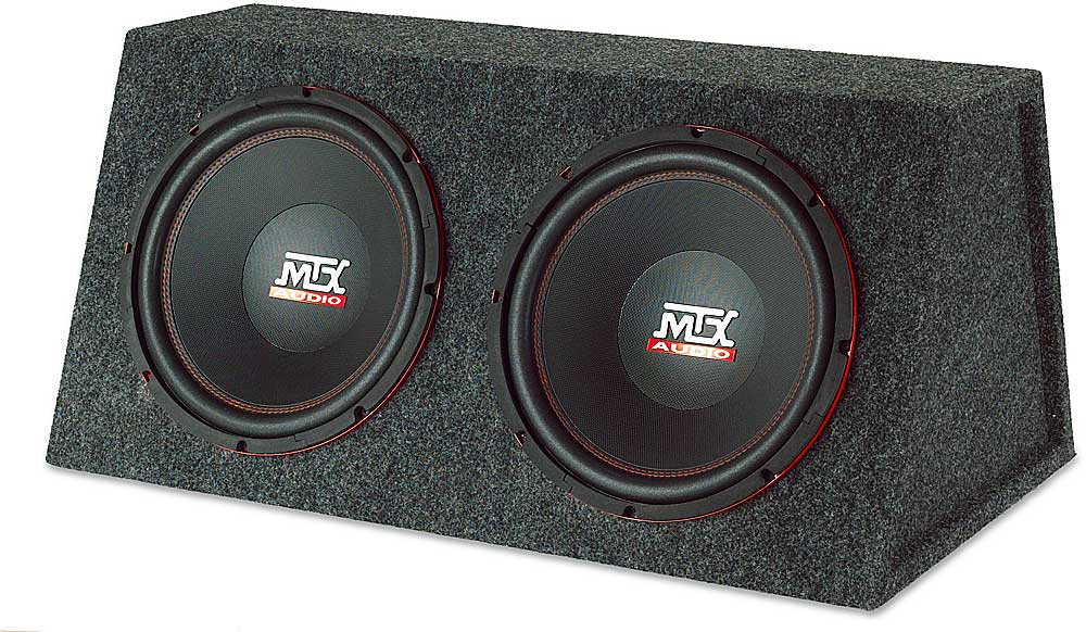 """MTX RT12X2A Subwoofer enclosure with two 12"""" Road Thunder"""