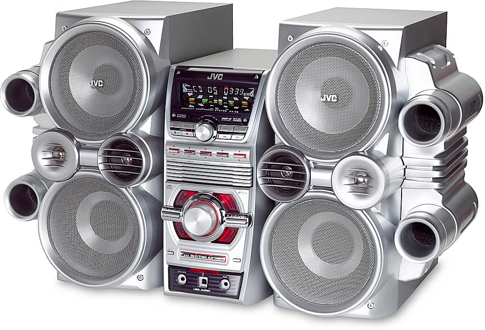 JVC HX-C6 5-CD/AM/FM Shelf System With USB Connection At