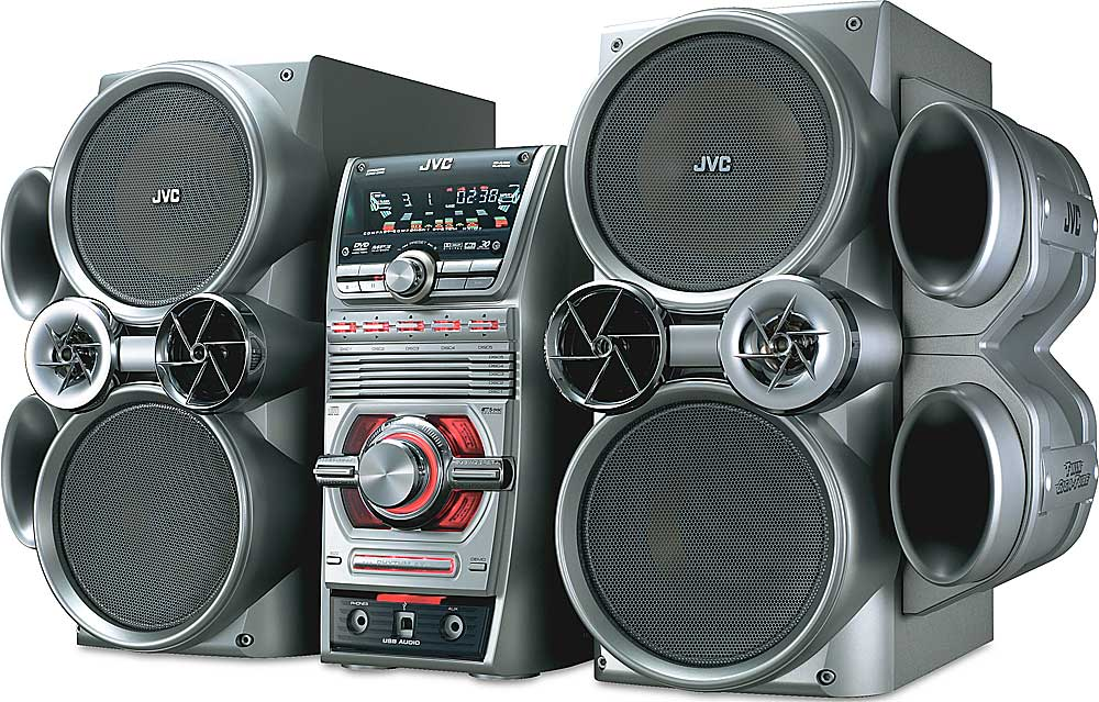 Jvc Hx D7 5 Disc Shelf System With Dvd Playback At