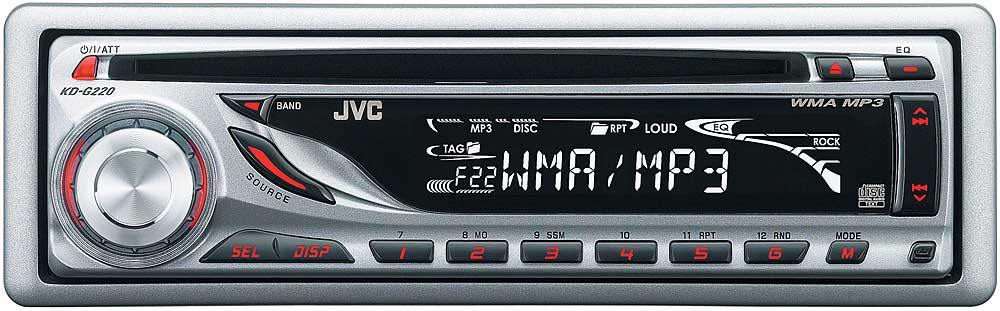 jvc kd g220 cd receiver with mp3 wma playback at crutchfield com rh crutchfield com JVC Car CD Radio Sirius JVC Car CD Radio Sirius