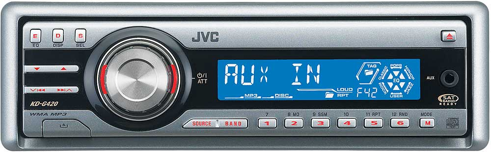 JVC KD-G420 CD receiver with MP3/WMA playback at Crutchfield.com