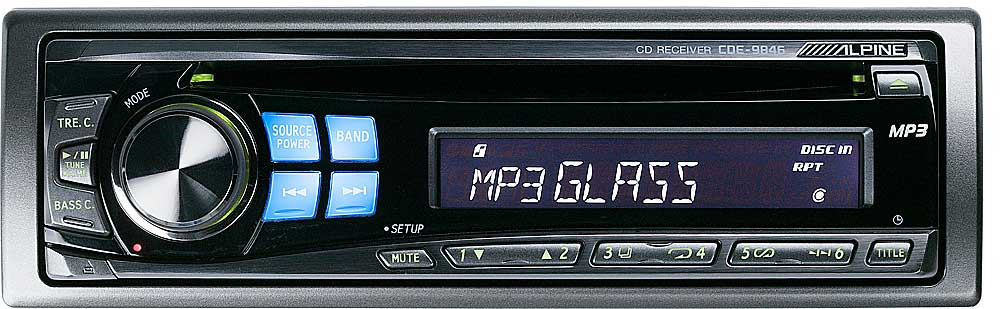 alpine cde 9846 cd player mp3 playback at crutchfield com