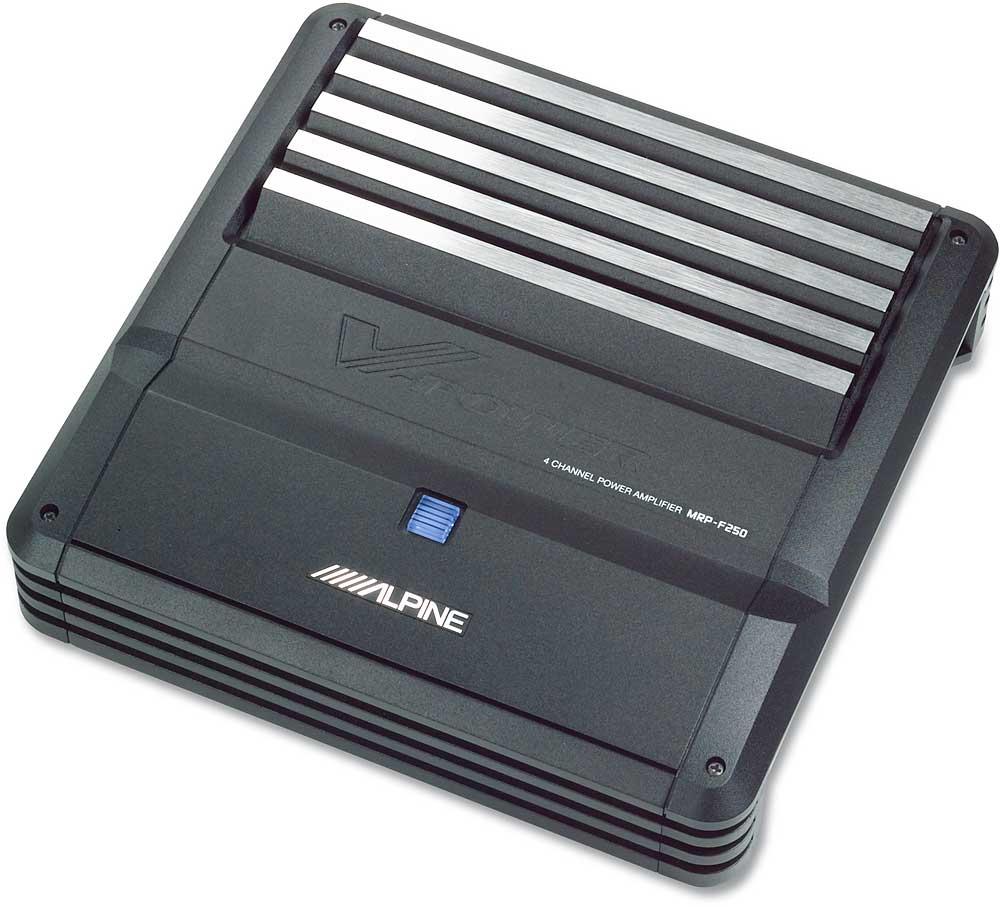 Alpine MRP-F250 4-channel car amplifier 40 watts RMS x 4 at Crutchfield.com
