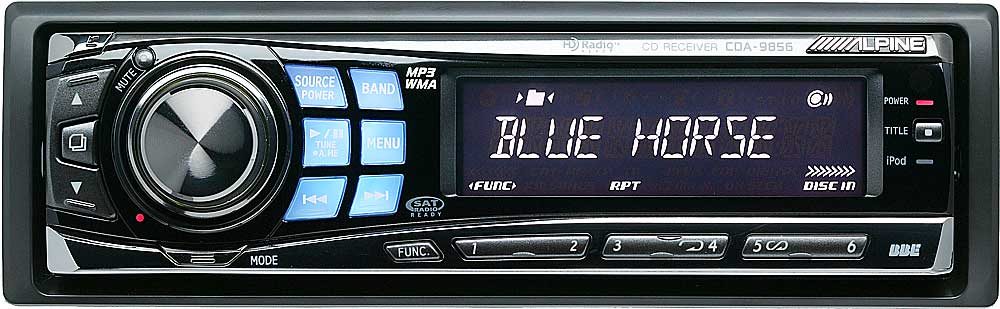 alpine cda 9856 cd player with mp3 wma playback at. Black Bedroom Furniture Sets. Home Design Ideas