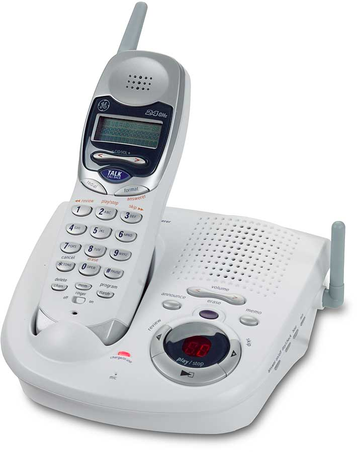 GE 24GHz Cordless Phone With Digital Answering Machine At Crutchfield