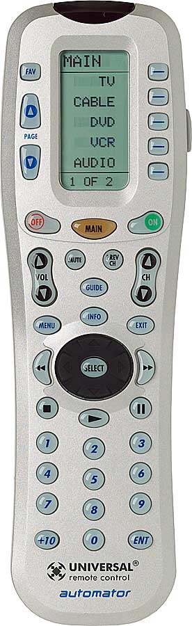 Universal® urc-200 automator™ multibrand remote with learning.