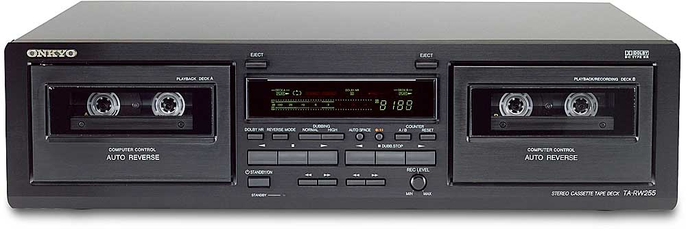 onkyo ta rw255 dual well cassette deck at. Black Bedroom Furniture Sets. Home Design Ideas