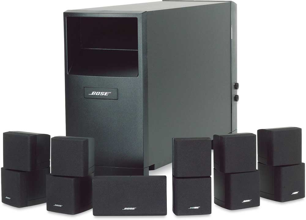 bose® acoustimass® 16 series ii home entertainment speaker system (black)  at crutchfield