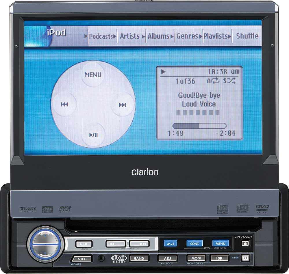 x020VRX765 f clarion vrx765vd in dash dvd player with 7\