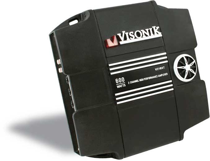 Visonik V218XT 2-channel car amplifier 150 watts RMS x 2 at CrutchfieldCrutchfield