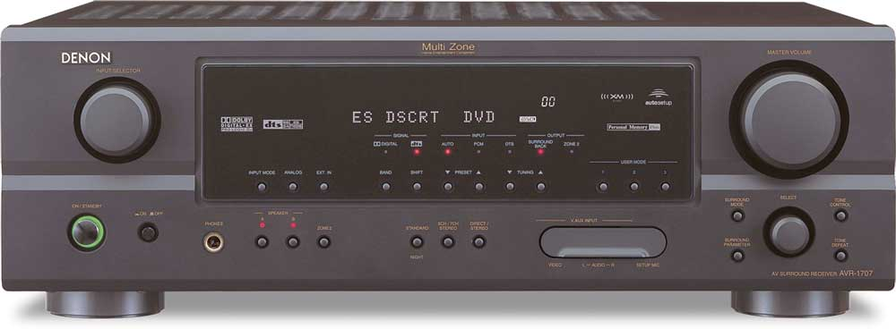 denon avr 1707 xm ready home theater receiver at