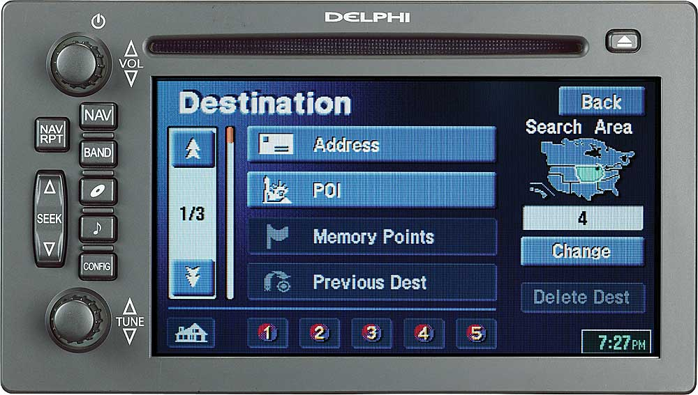 Delphi TNR800 In-dash CD player/GPS navigation system for ...
