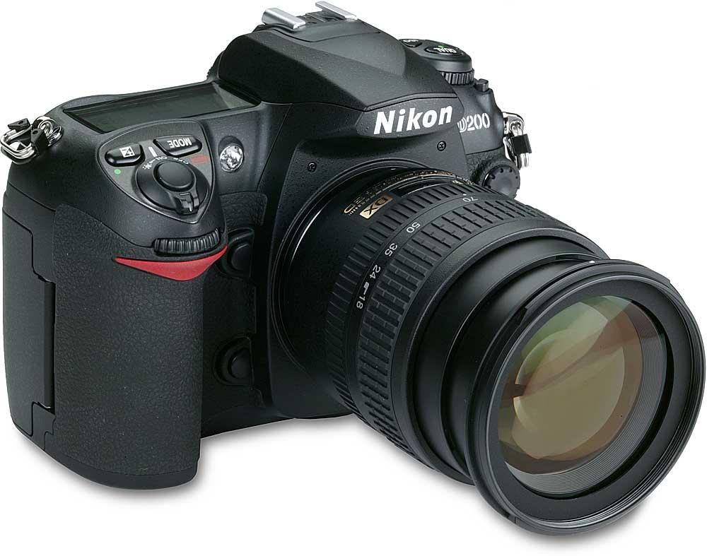 Nikon D200 Kit 10.2-megapixel digital SLR camera with 18-70mm Zoom-Nikkor  lens at Crutchfield.com