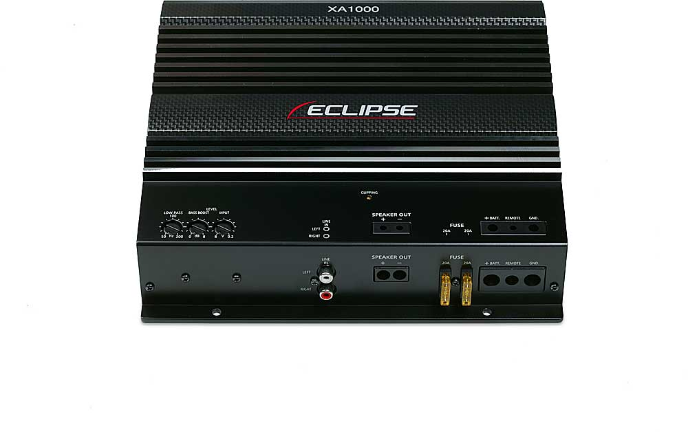 Eclipse XA1000 Mono subwoofer amplifier 480 watts RMS x 1 at 2 ohms ...