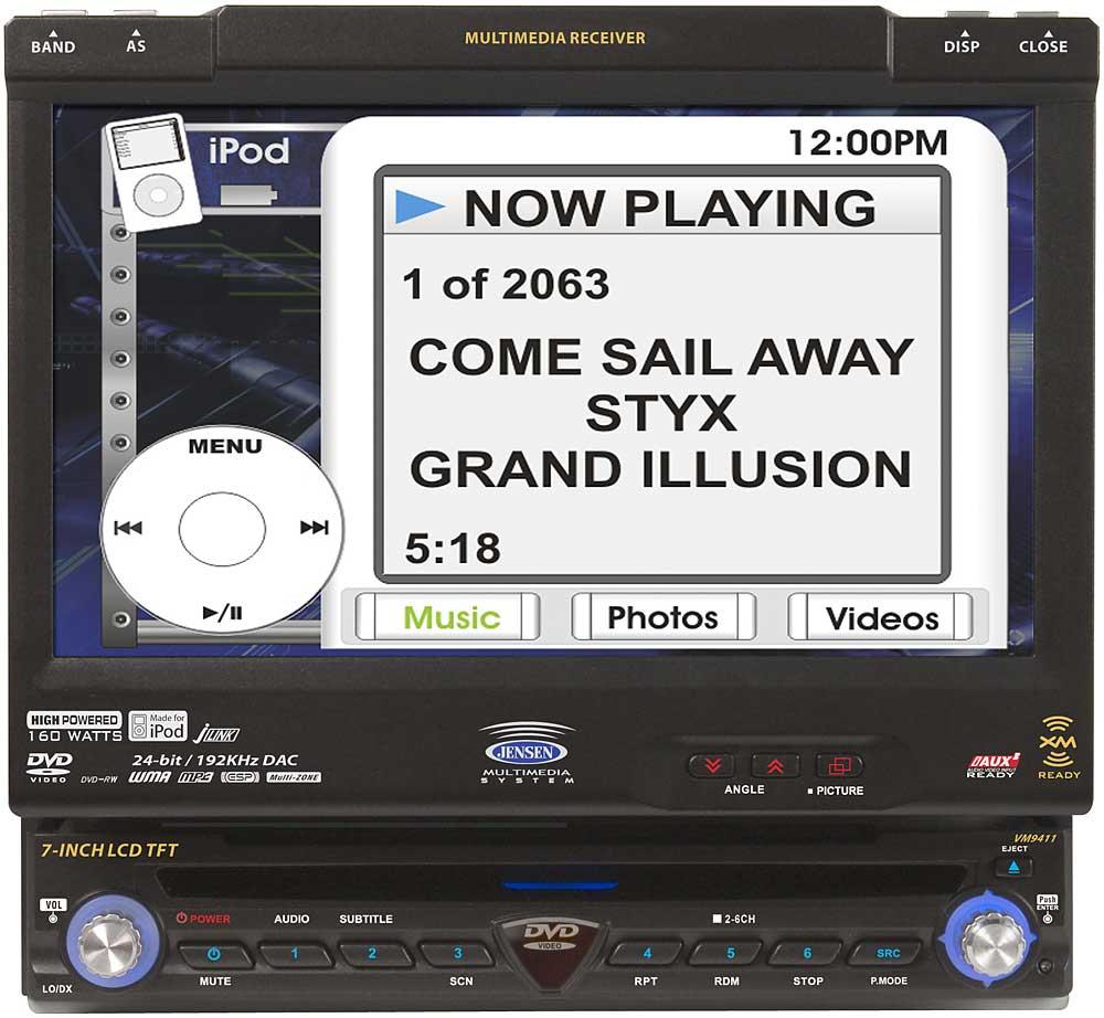 Jensen VM9411 In-dash DVD receiver with 7