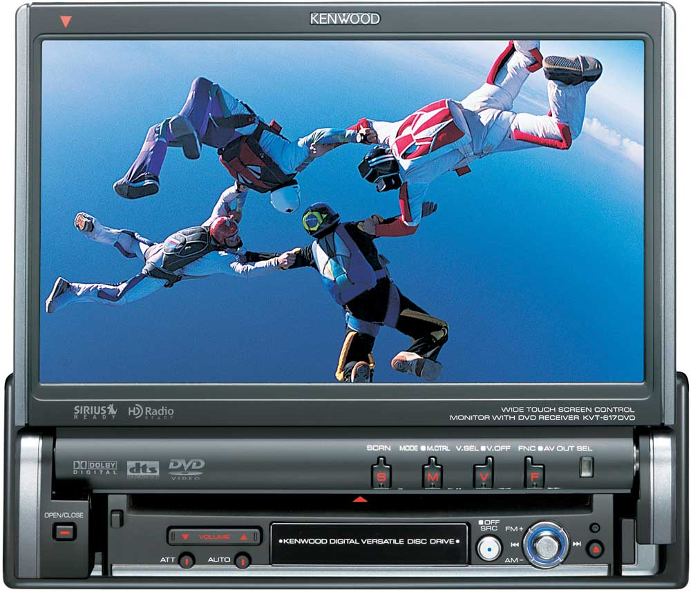 Kenwood KVT-617DVD In-dash DVD player with 7\