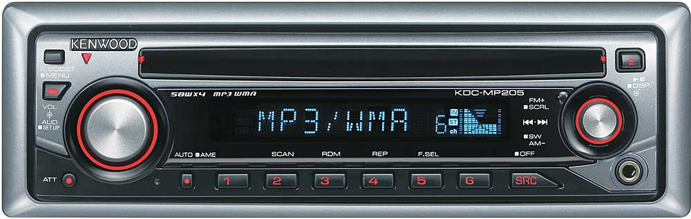 kenwood kdc mp205 cd receiver with mp3 wma playback at crutchfield com rh crutchfield com Protect Kenwood KDC-MP205 Protect Kenwood KDC-MP205