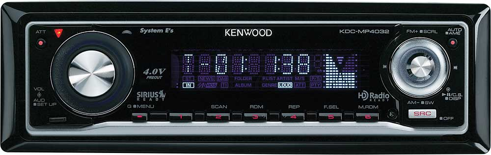 kenwood kdc mp4032 cd receiver with mp3 wma aac playback at rh crutchfield com Kenwood KDC- 252U Kenwood KDC X997