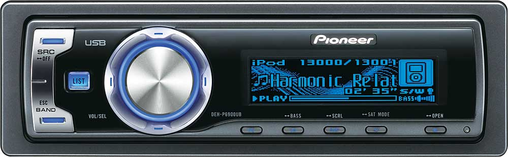 pioneer deh p6900ub cd receiver with mp3 wma aac playback at rh crutchfield com  pioneer deh-5900ib manual