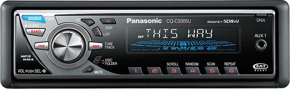panasonic cq-c3305u cd receiver with mp3/wma playback at, Wiring diagram