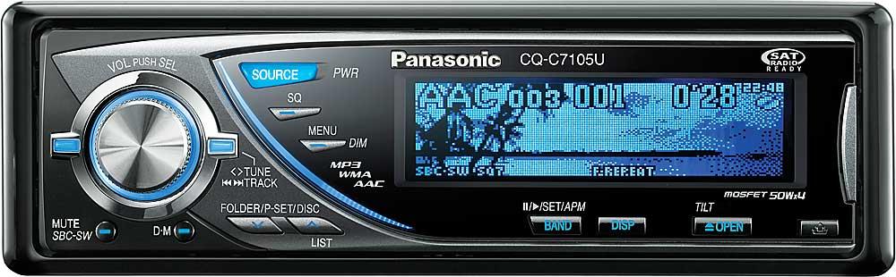 panasonic cq c7105u cd receiver mp3 wma aac playback at panasonic cq c7105u cd receiver mp3 wma aac playback at crutchfield com