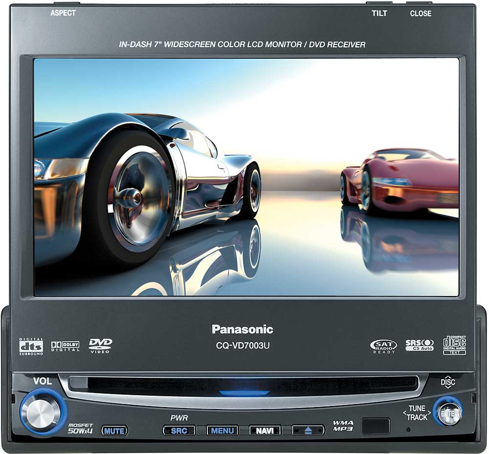 "Panasonic CQ-VD7003U In-dash DVD receiver with 7"" video screen at  Crutchfield.com"