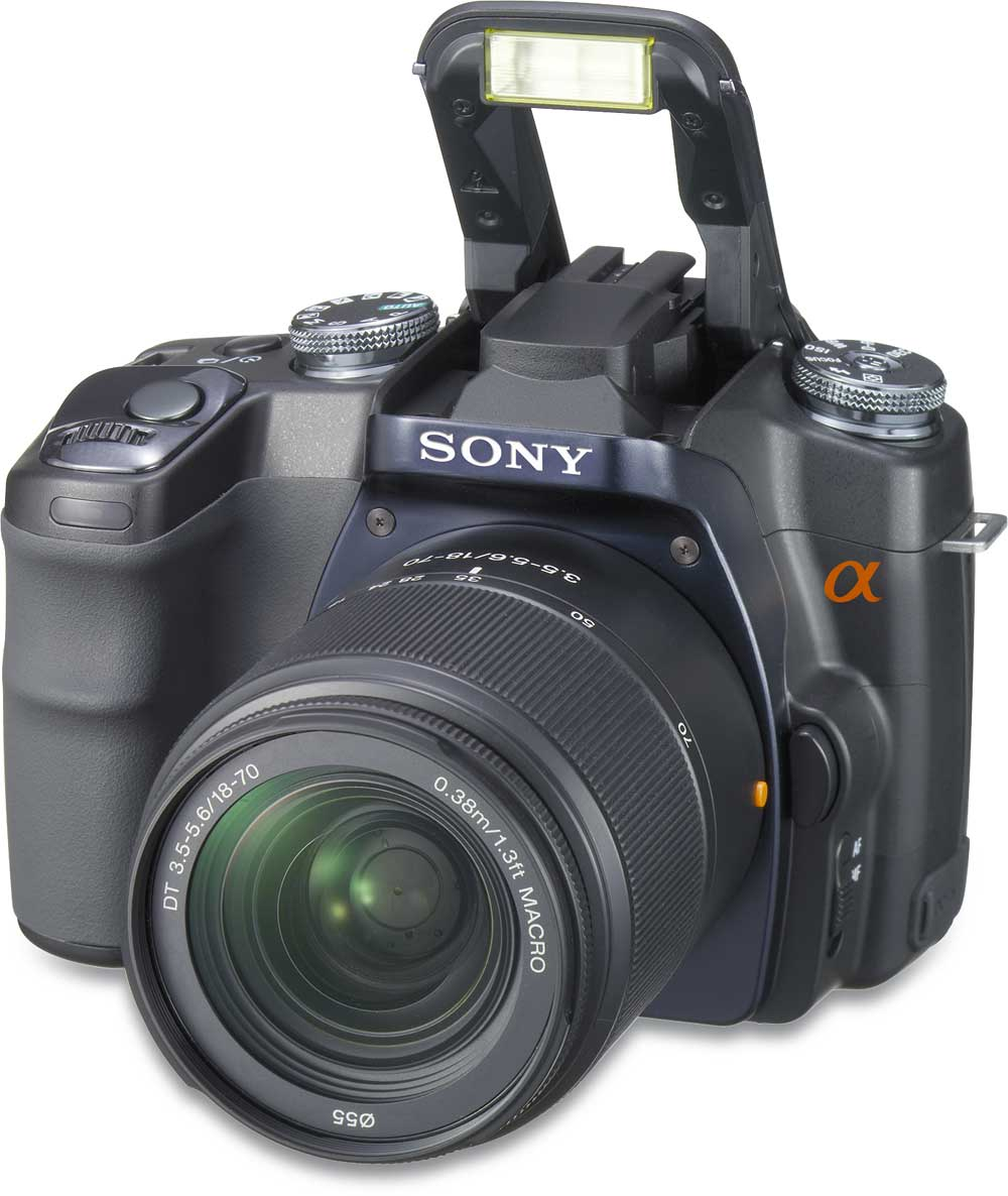 Camera Sony Dslr-a100 Digital Camera sony alpha dslr a100 kit 10 megapixel digital slr camerawith 18 70mm zoom lens at crutchfield com