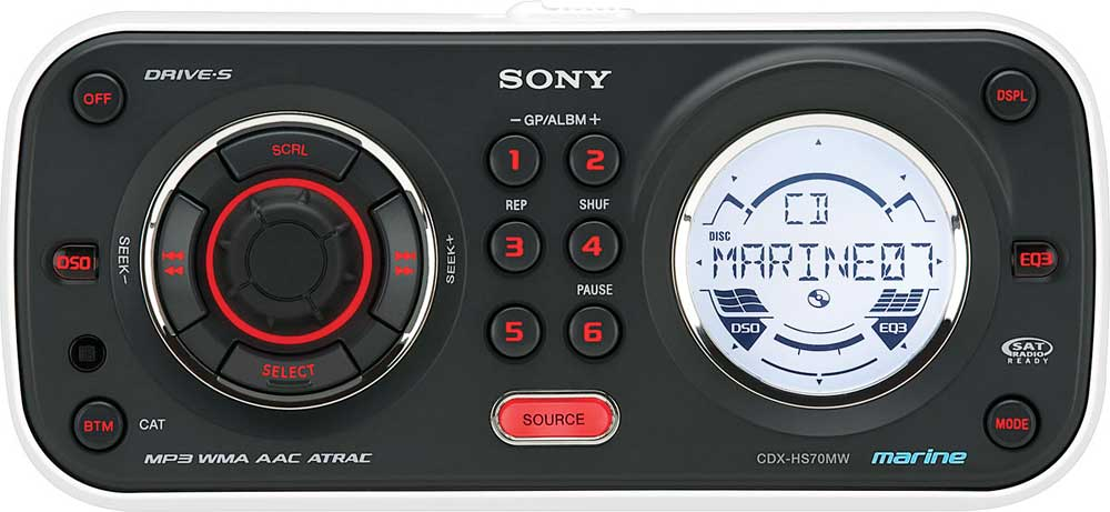 Sony CDXHS70MW Marine CD player at Crutchfieldcom