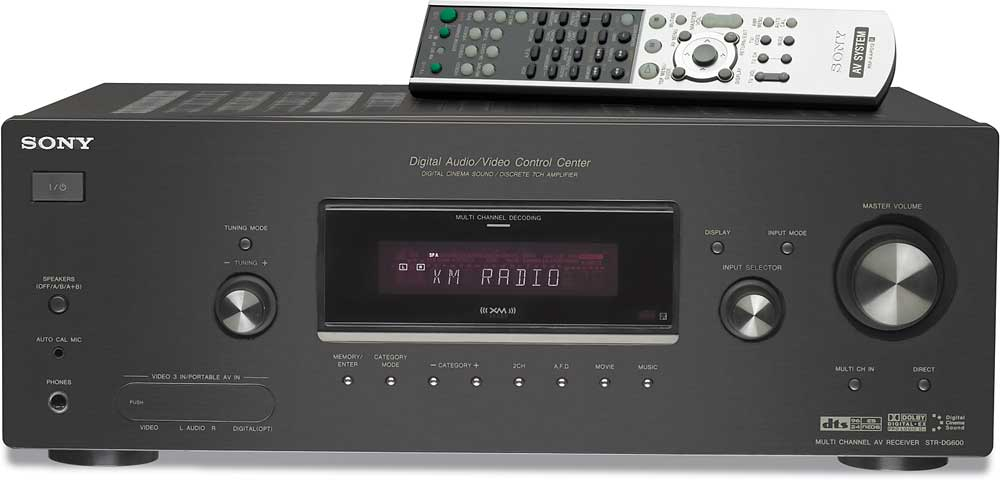 sony str dg600 xm ready home theater receiver with auto setup at rh crutchfield com Sony 9 1 Receiver Sony 9 1 Receiver