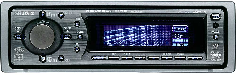 sony cdx f605x cd player with mp3 playback at crutchfield com rh crutchfield com Sony CD 3300 CDX- GT260MP