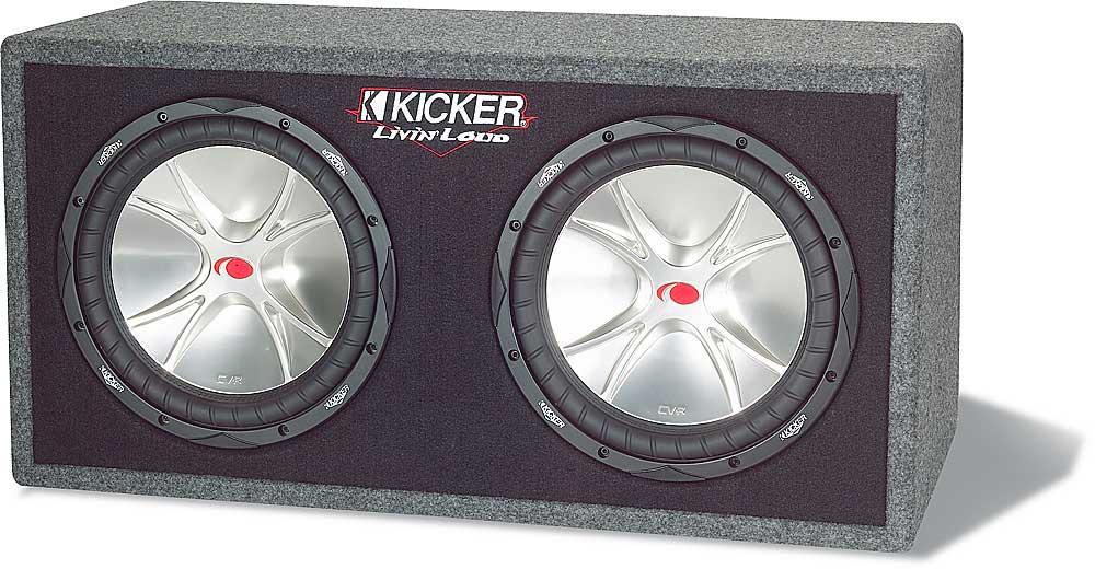 Kicker Comp Cvr 12 Box Specs: Kicker 05DCVR122 Vented enclosure with dual 12 CompVR subwoofers at rh:crutchfield.com,Design