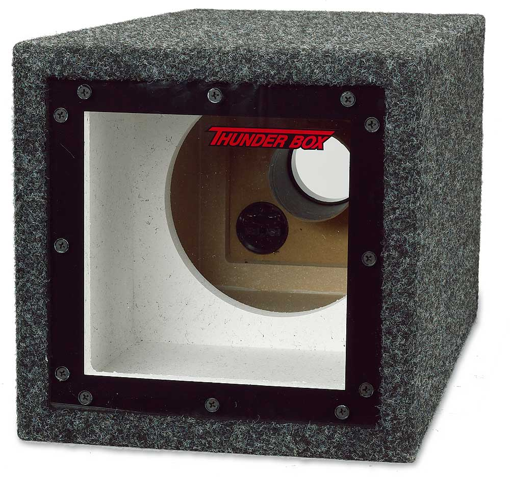 mtx thunderbox8 single 8 u0026quot  bandpass subwoofer box at