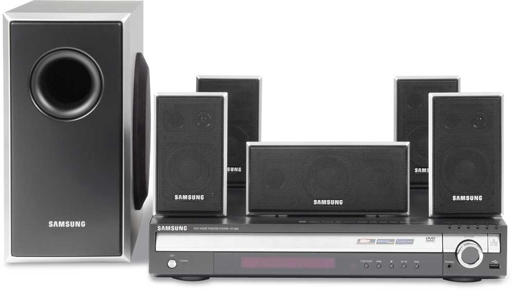 Samsung Htq45 Xm Ready 5 Disc Dvd Home Theater System With Mp3