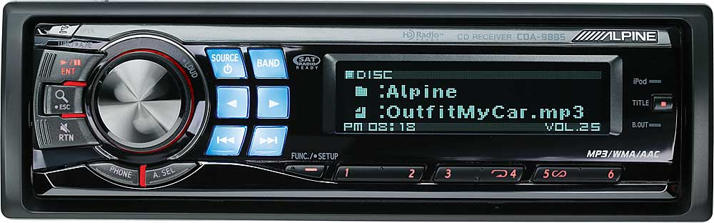 alpine cda 9885 cd receiver at. Black Bedroom Furniture Sets. Home Design Ideas