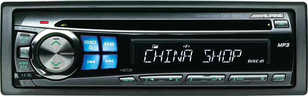 alpine cde 9870 cd receiver with mp3 playback at crutchfield com rh crutchfield com Alpine CD Receiver Manual Alpine 9845