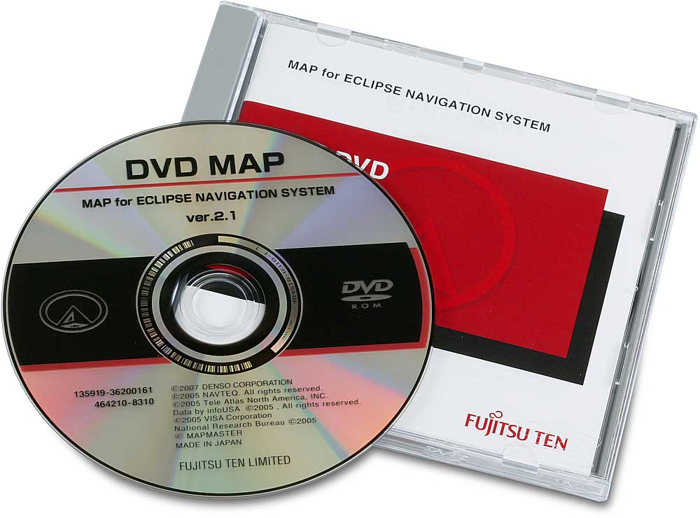 Eclipse 2007 Map Update Discs Navigation map updates for select