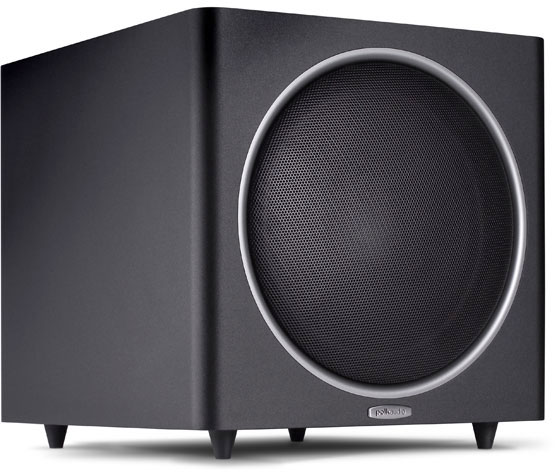 polk audio psw125 black powered subwoofer at crutchfield