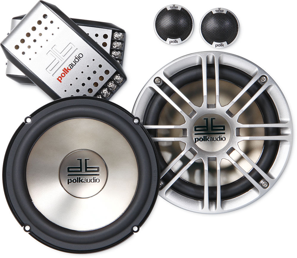 """Polk Audio db6501 6-1/2"""" component speaker system — also fit 6-3/4""""  openings at Crutchfield.com"""