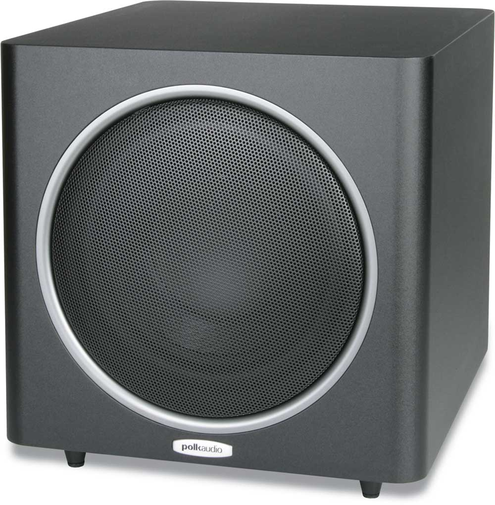 polk audio psw110 black powered subwoofer at crutchfield